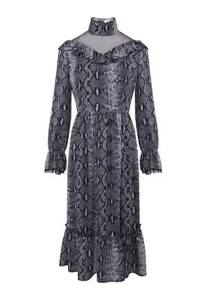 W Collection Yılan Desenli Elbise