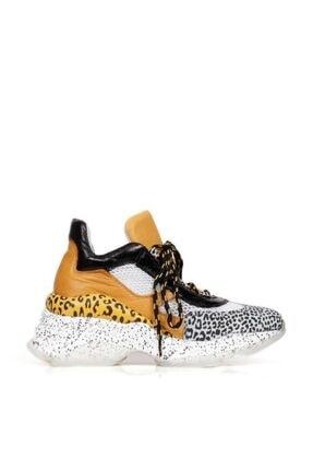 Bueno Shoes Hakiki Deri Noktalı Taban Ve File Detaylı Kadın Spor Ayakkabı 20wq11400