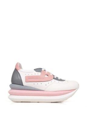 Bueno Shoes Hakiki Deri File Detaylı Bağcıklı Kadın Spor Ayakkabı 20wq10400