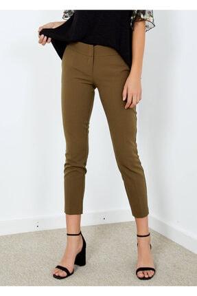 Cazador Kadın Haki Cepli Klasik Kesim Pantolon