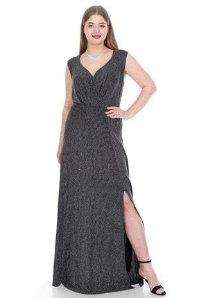 ANGELINO Kadın Siyah Zarif Uzun Abiye Elbise KL128