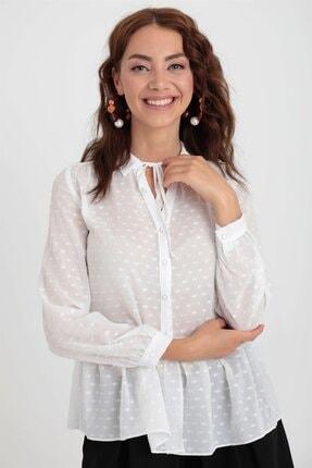 Chima Volanlı Şifon Gömlek