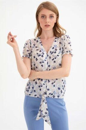 Chima Önü Bağlamalı Gömlek