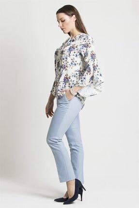 Chima Kadın Mavi Dar Paça Pantolon
