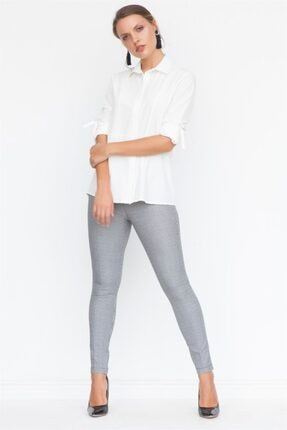 Chima Kadın Siyah Kemeri Lastikli Slim Pantolon K18PA123