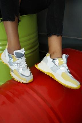 Ayakkabı Modası Kadın Sarı Sneaker
