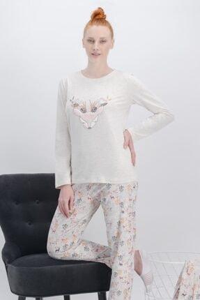 Arnetta Kadın Bej Pijama Takımı