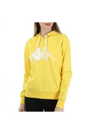 Kappa Kadın Kapüşonlu Sw-shirt Zouk Sarı