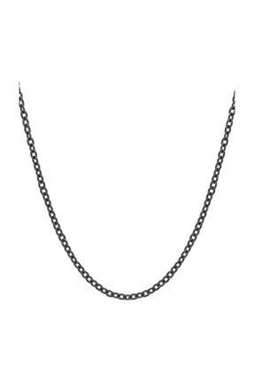 Chavin Unisex Siyah 60 cm 3 mm Çelik Zinciri Df32sy