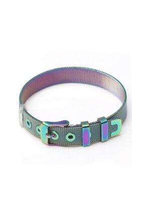 Chavin Unisex Multicolor Örgü Hasır Çelik Bileklik Dr47ml