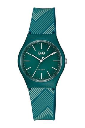 Q&Q Bayan Kol Saati+100 Metre Su Geçirmez 5 Farklı Renk Vs52 Yeşil