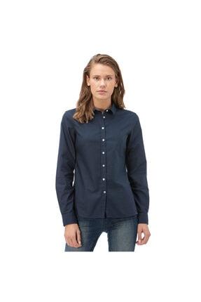 Nautica Nautıca Kadın Lacivert Standart Fit Gömlek