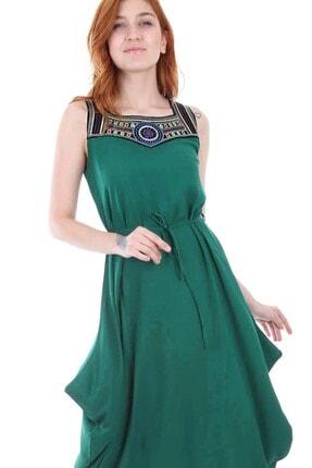 Bigdart 1512 Önü Nakışlı Elbise