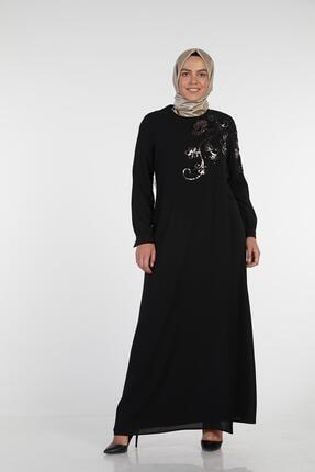 Sitare Çiçekli Payet Nakışlı Elbise 19y2523