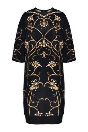 Faberlic Siyah Yarım Kollu Monogram Elbise 42 Beden