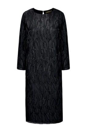Faberlic Siyah Dantel Güpürlü Elbise 34 Beden