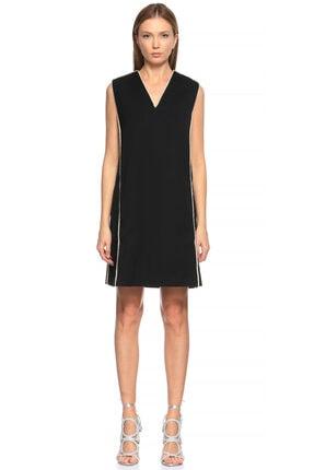 Lanvin V Yaka Siyah Elbise