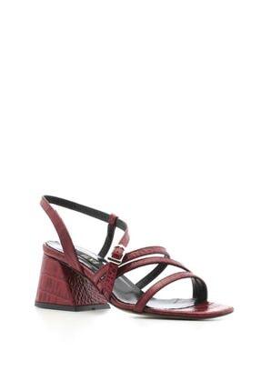 İlvi Nao Bayan Sandalet Kırmızı Kroko