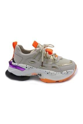 Kriste Bell K202-3024 Bej Kadın Kalın Taban Spor Ayakkabı
