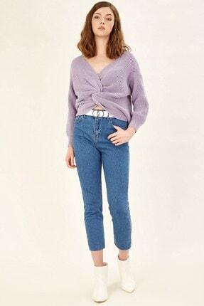Arma Life Kesik Paça Mom Pantolon - Orta Mavi