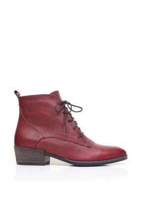 Bueno Shoes Bağcıklı Yakma Hakiki Deri Kadın Düz Bot 9p1315