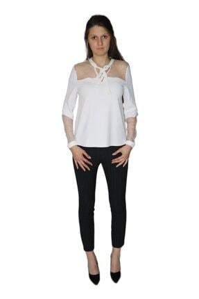 Ayhan Kadın Çizgili Kumaş Pantolon