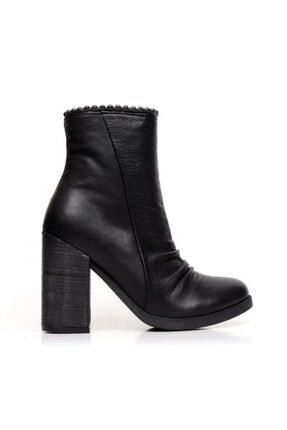 Bueno Shoes Önden Büzgülü Ve Boncuklu Kadın Topuklu Bot 9p5200