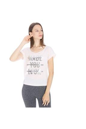 Sportive Keslook Kadın Beyaz Koşu Tişört 710605-nde