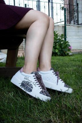 Bueno Shoes Hakiki Deri Baskılı Ve Bağcık Detaylı Kadın Spor Ayakkabı 20wr1903-sna