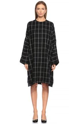 Lanvin Kareli Siyah Elbise