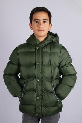 Milan Çocuk Club 9--14 Yaş Erkek Çocuk Mont Kaban Yeşil Renk