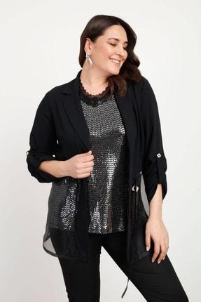 Moda İlgi Kadın Organze Ikili Ceket
