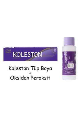 Koleston Tüp Boya 60 Ml - 5.0 Açık Kahve + 20 Vol Oksidan Peroksit