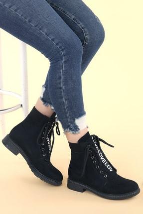 Ayakland N901-04 Süet Termo Taban Kadın Bot Ayakkabı