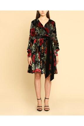 Ayhan Çiçek Desen Uzun Kuşaklı Elbise