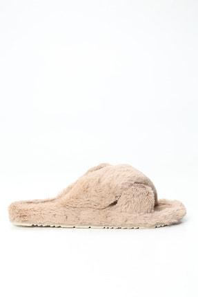 Ayakkabı Modası Kadın Bej Ev Terliği