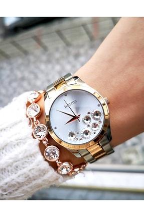 Homies Kadın Rose Gold Çelik Saat ve Bileklik
