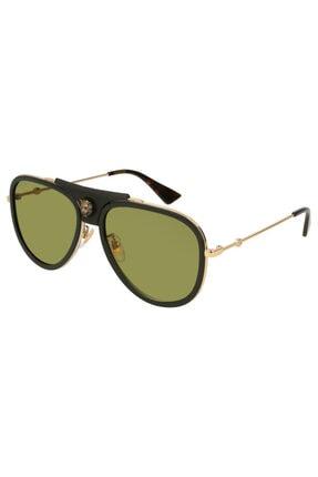 Gucci Unisex Yeşil Güneş Gözlüğü Gg0062s 014