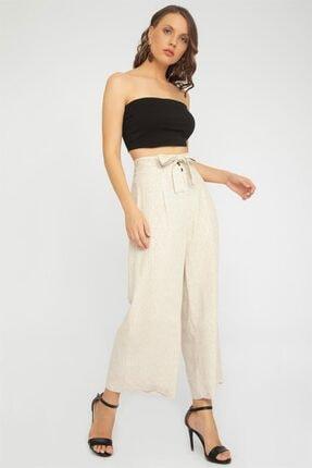 Chima Düğmeli Culotte Pantolon