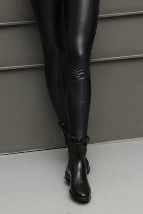 Ayakkabı Modası Kadın Siyah Yağmur Çizmesi