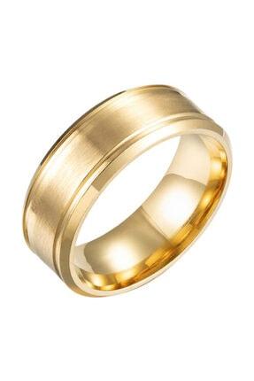 Chavin Unisex Altın Söz Nişan Sarı ip Kaplama Çelik Yüzük ehy-ehy-ec42sr
