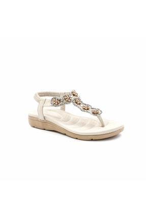 Guja 20y150-17 Kadın Deri Ortopedik Sandalet