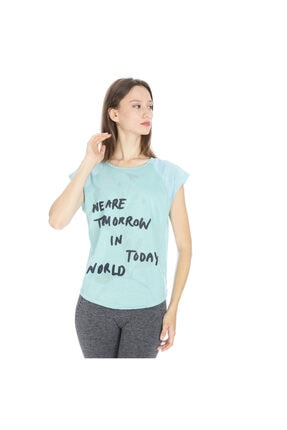 Sportive Kestoday Kadın Mavi Koşu Tişört 710608-brn