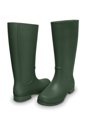 Crocs Wellıe Raın Boot Women Fo Yeşil Kadın Çizme