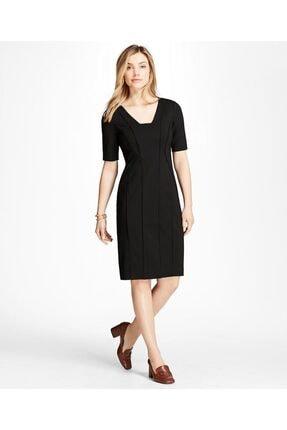 Brooks Brothers Kadın Siyah V Yaka Elbise