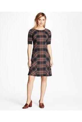 Brooks Brothers Kadın Lacivert/kırmızı Ekose Elbise