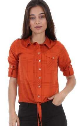 Bigdart 3617 Tek Cep Desenli Bağlamalı Gömlek