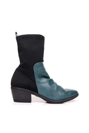 Bueno Shoes Lastikli Hakiki Deri Kadın Topuklu Bot 9p4901