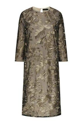 Faberlic Bej Renk Uzun Kollu Küpür Elbise 42 Beden