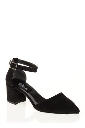 Derigo Siyah Süet Kadın Sandalet 39138